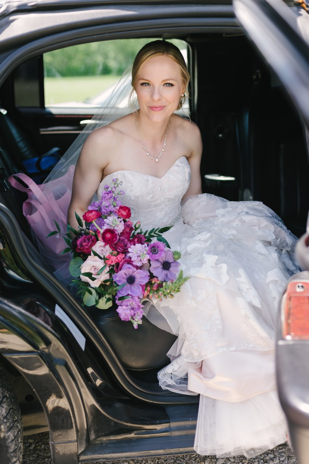 Jewel Toned Bridal Bouquet - Weddings in Winnipeg