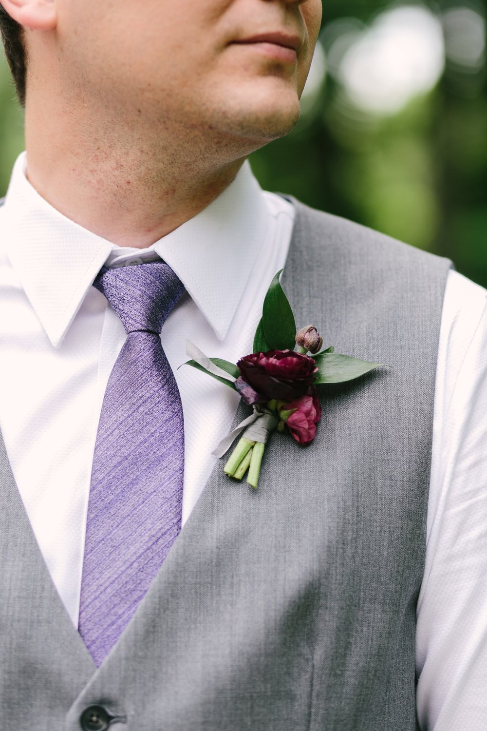 Ranunculus Boutonniere - Wedding flower Ideas