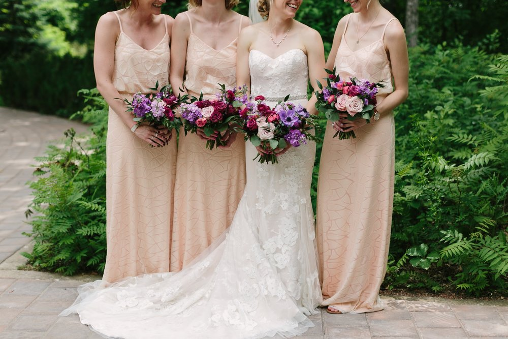 Blush Bridesmaid Dresses - Wedding Florist in Winnipeg