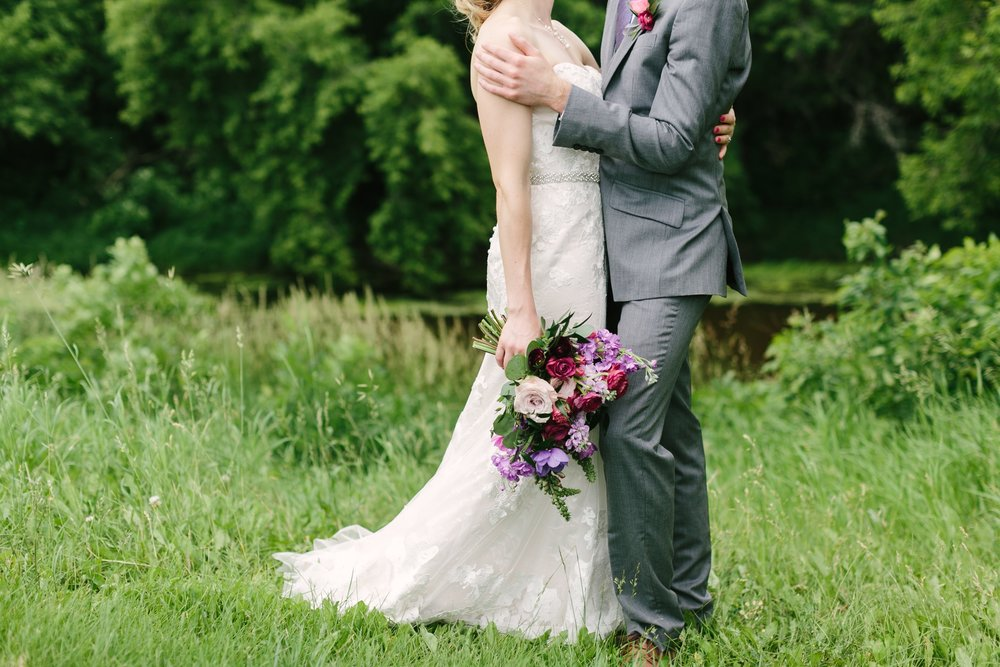 Raspberry Wedding Flowers - Stone House Creative