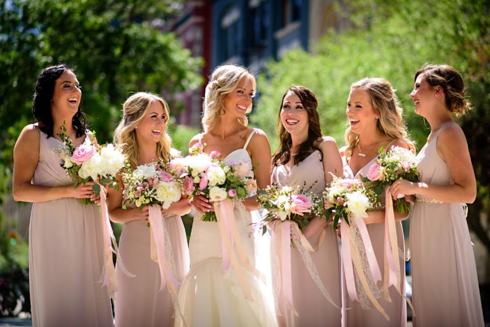 long blush bridesmaid dresses - Winnipeg Weddings