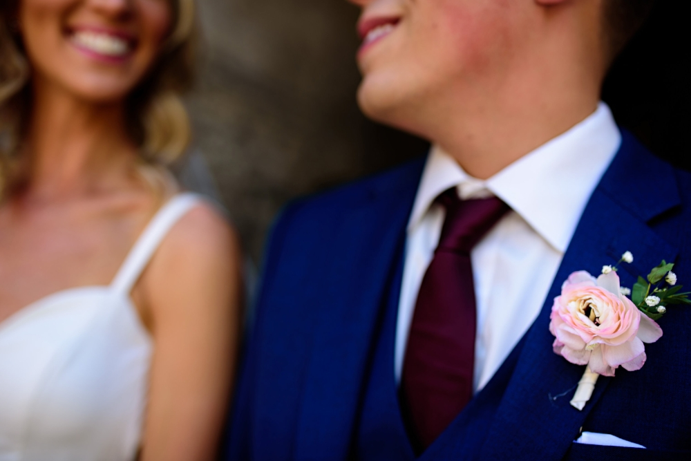 Pink Ranunculus Boutonniere - Wedding Florist Winnipeg