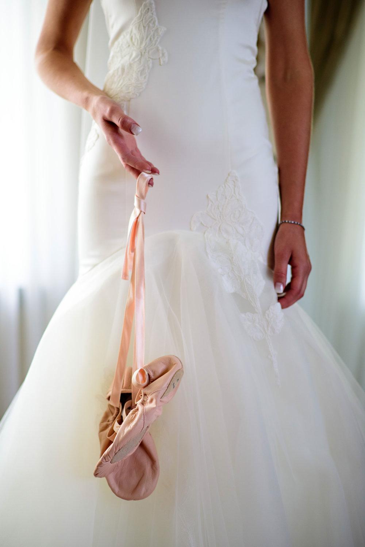 Ballet Slipper Wedding Shoes - Weddings in Winnipeg