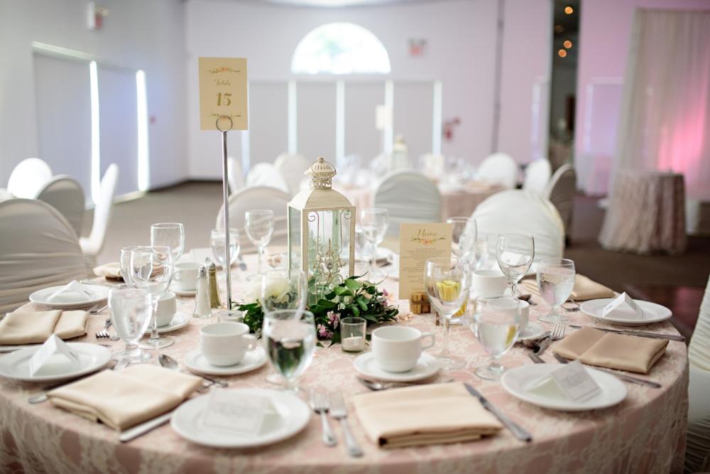 Lantern and Wreath Centrepiece - Wedding Flowers Winnipeg