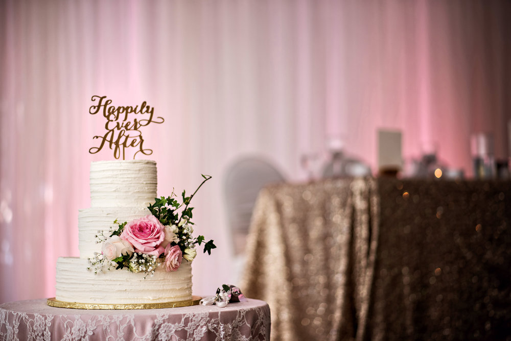 Buttercream Wedding Cake with Fresh Flowers - Wedding Florist in Winnipeg