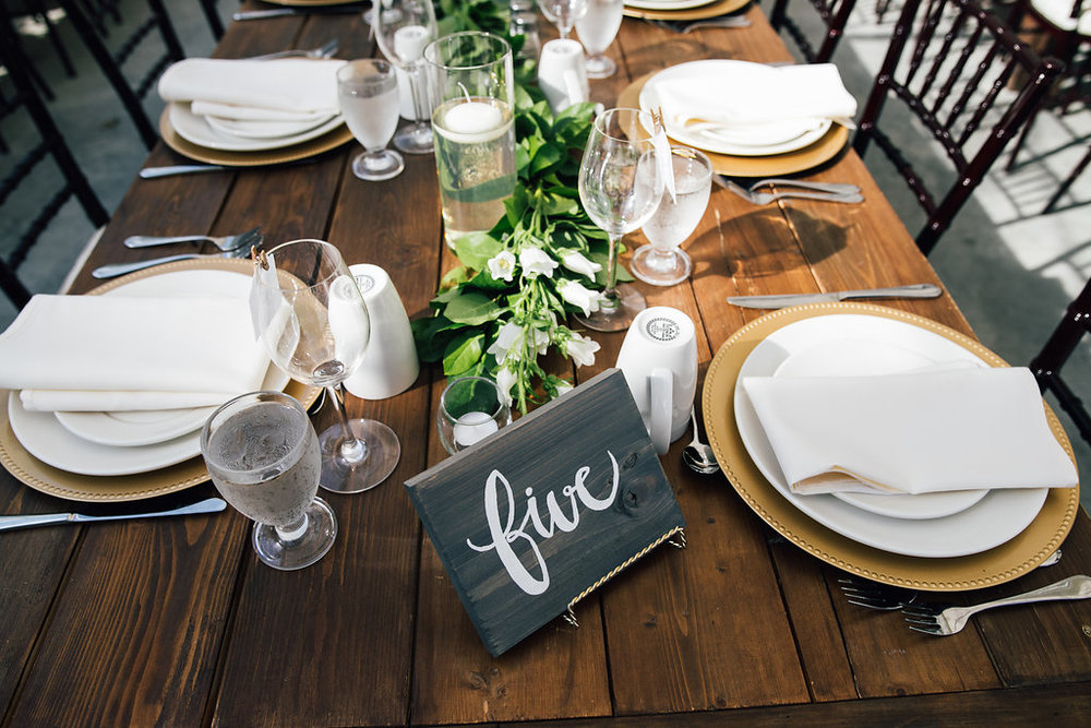 Wood Table Number Ideas - Winnipeg Weddings