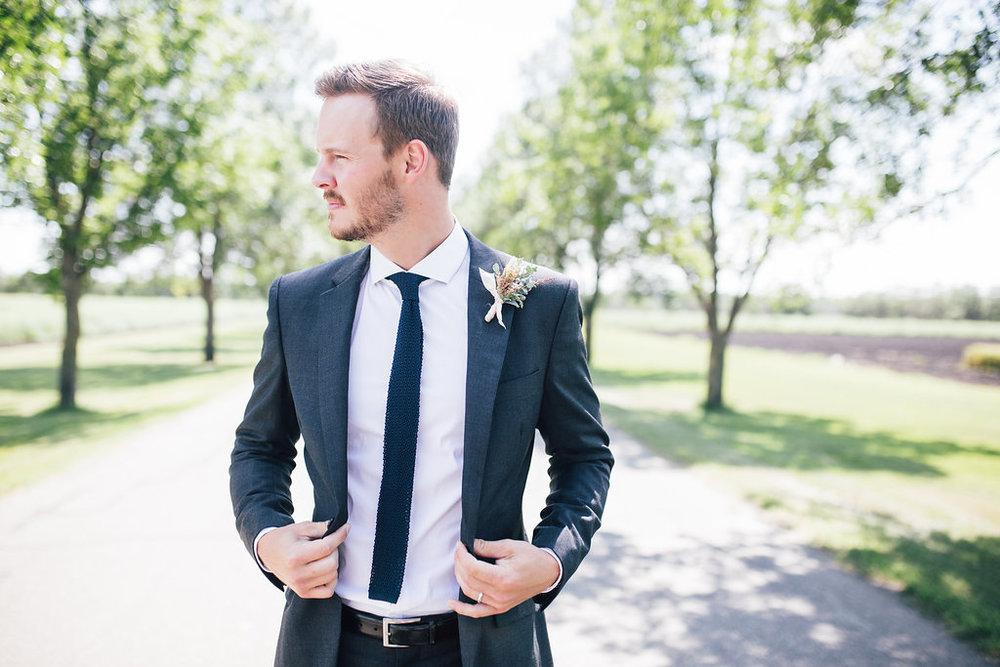 Pink Boutonniere - Wedding Florists Winnipeg
