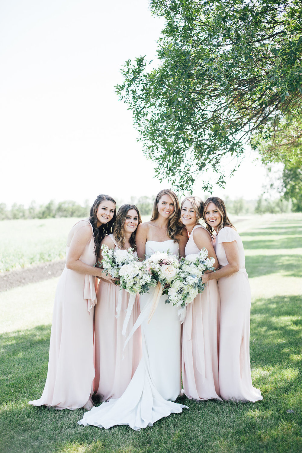 Blush Bridal Bouquets - Stone House Creative