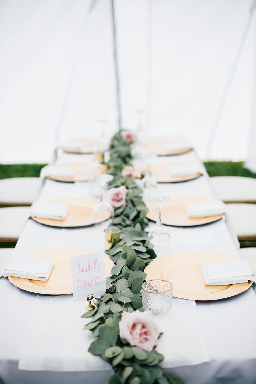 Eucalyptus Garland Centrepieces - Winnipeg Weddings
