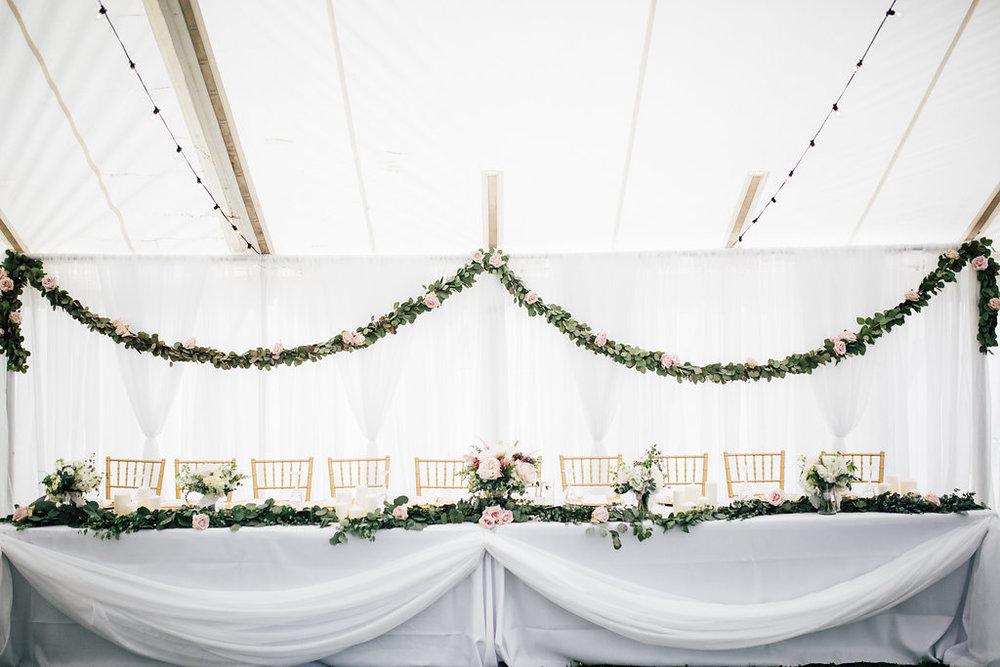 Greenery Garland Decor - Wedding Florist in Winnipeg