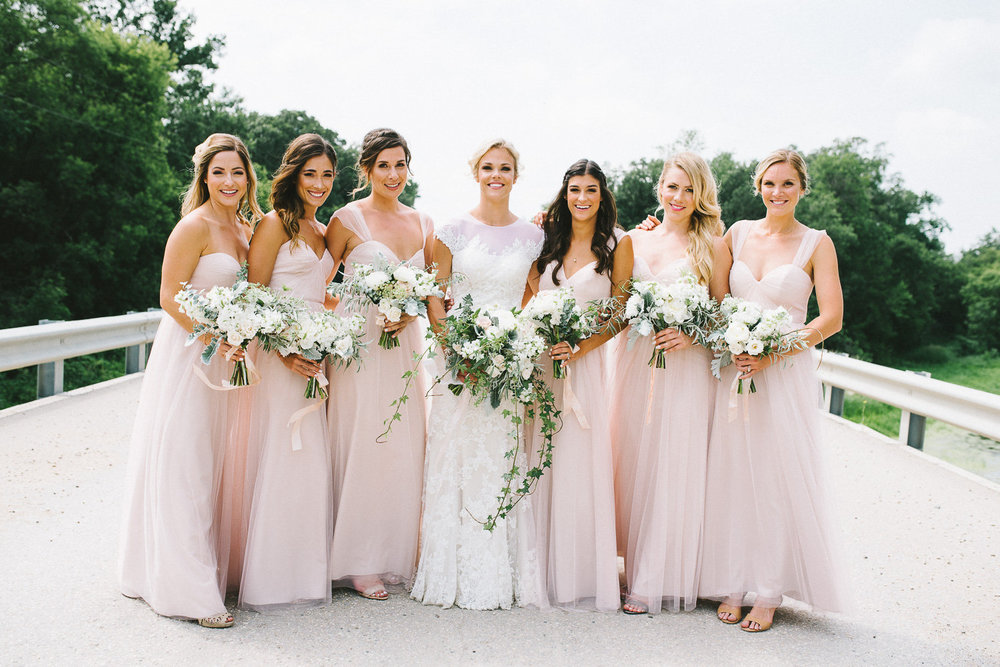 Blush and White Wedding Flowers - Winnipeg Wedding Florist