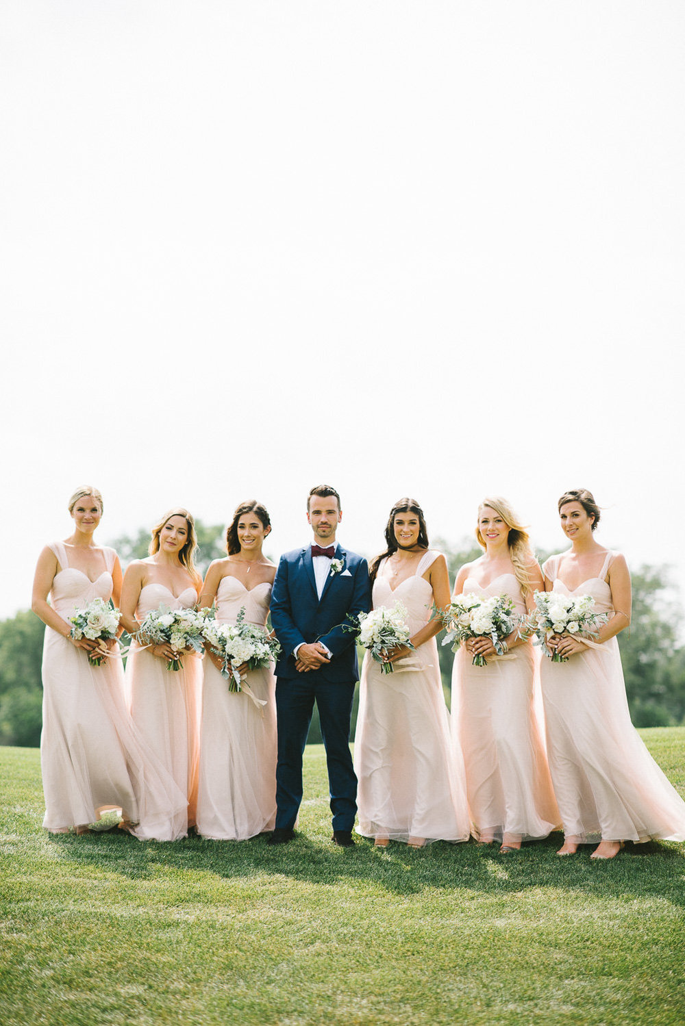 Blush Bridesmaid Dresses - Winnipeg Wedding florist