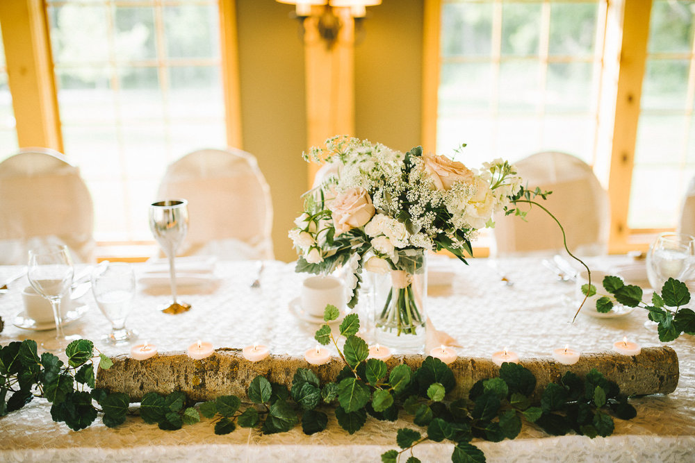 Rustic Wedding Centrepieces - Bridges Golf Course Wedding