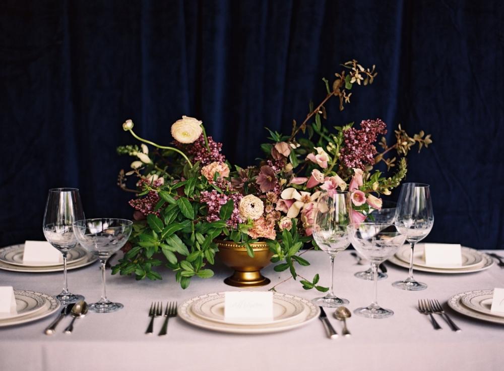 Luxurious Purple Wedding Flowers - Stone House Creative