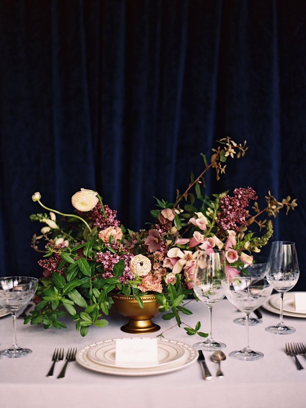 Purple and Gold Wedding Decor - Wedding Florist in Winnipeg