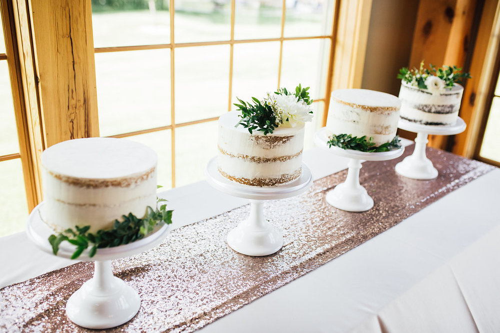 Photo by  Pantel Photography,  Cakes by  Laugh Love Cakes