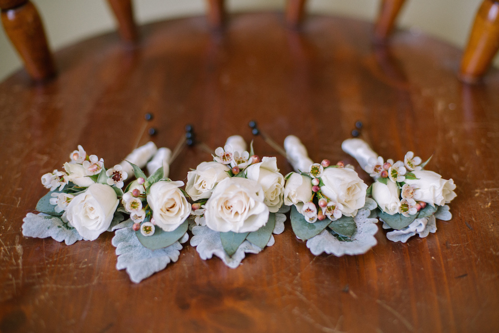 White Boutonnieres - Winnipeg Wedding Florist