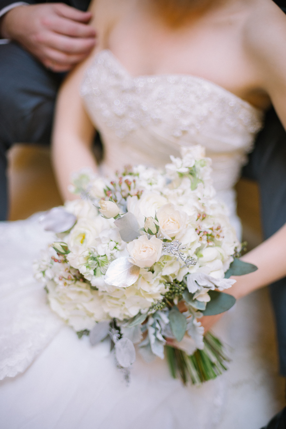 Textured White Bridal Bouquet - Wedding Flowers Winnipeg