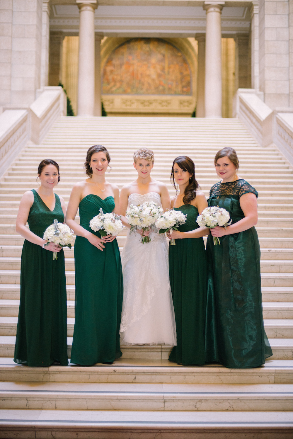 White and Green Wedding Ideas - Winter Weddings in Winnipeg