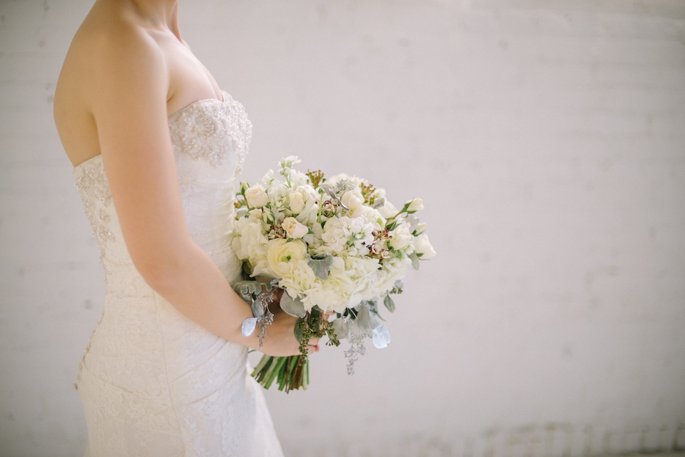 White Bridal Bouquet - Stone House Creative