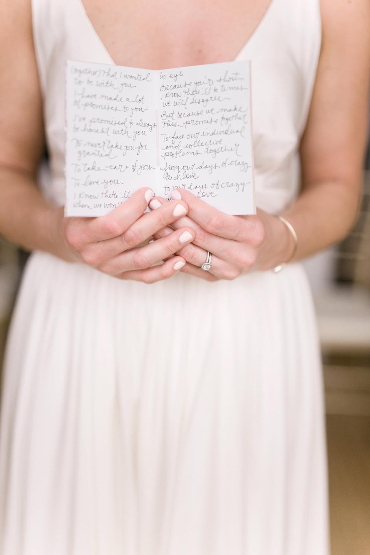 Wedding Vow Booklet - Winnipeg Wedding Florists