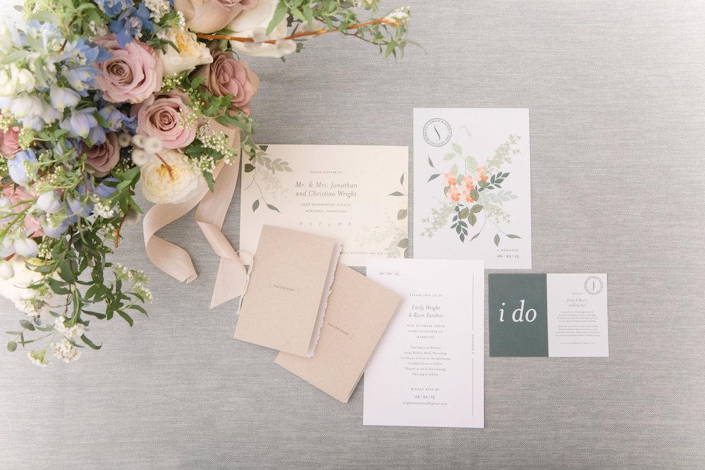 Floral Wedding Invitations - Winnipeg Wedding Florist
