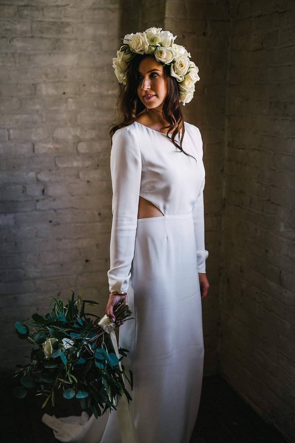 White Flower Crown - Winnipeg Wedding Florists