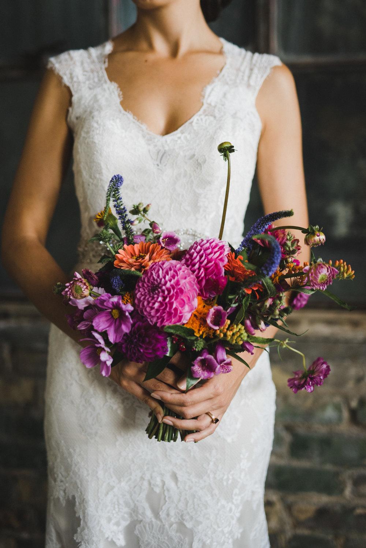 Bright Purple Summer Bridal Bouquet - Wedding Florist in Winnipeg
