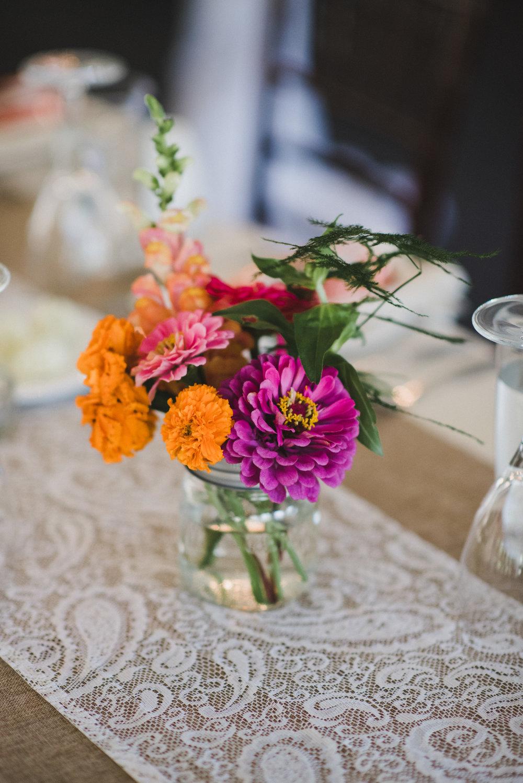 Orange and Pink Wedding Flowers - Winnipeg Wedding Florists