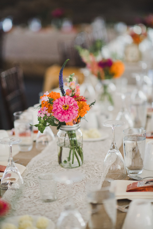 Colourful Wedding Flowers - Stone House Creative