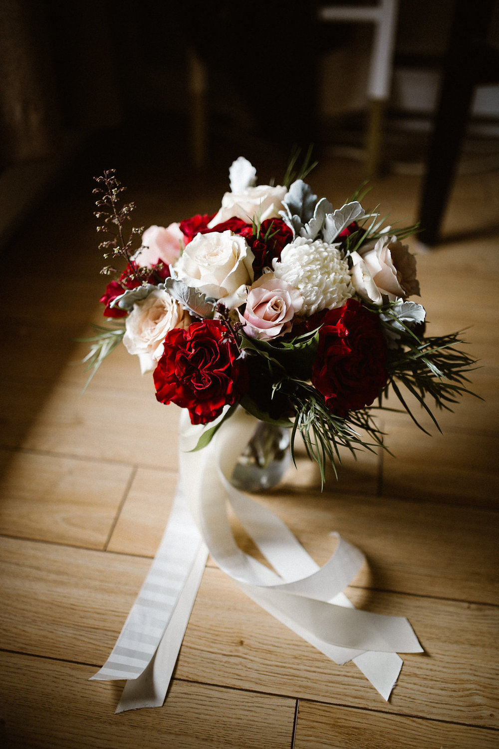 Marsala and Blush Bridal Bouquet - Stone House Creative