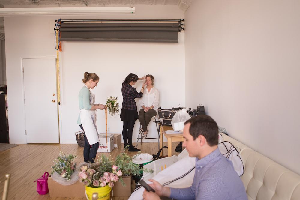 Behind the Scenes - Winnipeg Wedding Florist