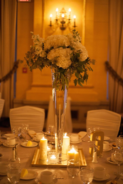 Tall Wedding Flower centrepiece - Winnipeg Wedding Florist