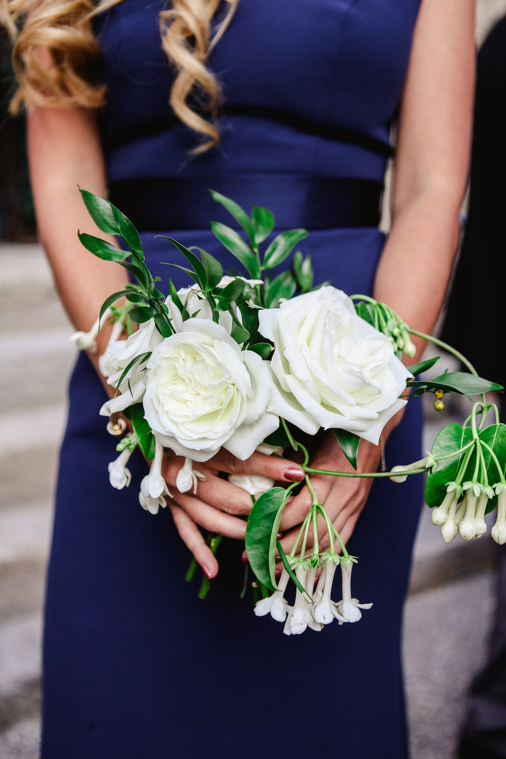 White Garden Rose Bouquet - Winnipeg Wedding Florist