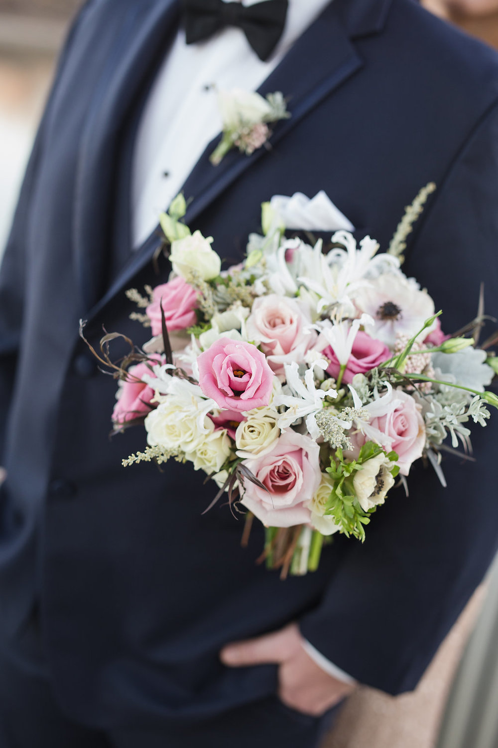 White Nerine Bridal Bouquet - Wedding Florist in Winnipeg