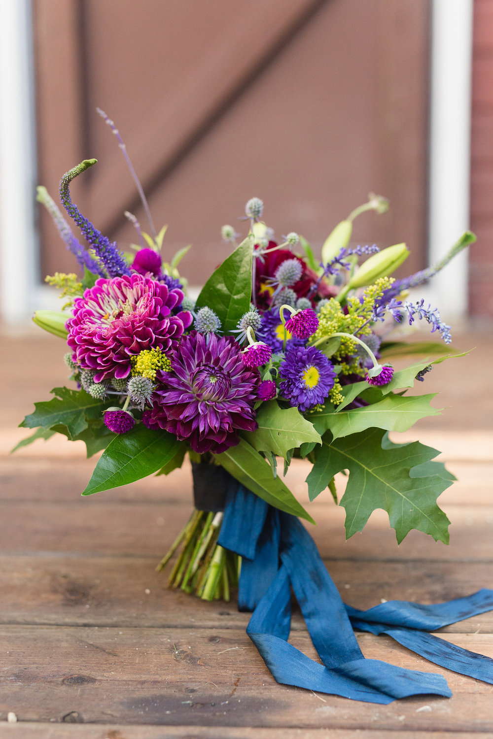 Jewel Tone Bridal Bouquet - Stone House Creative