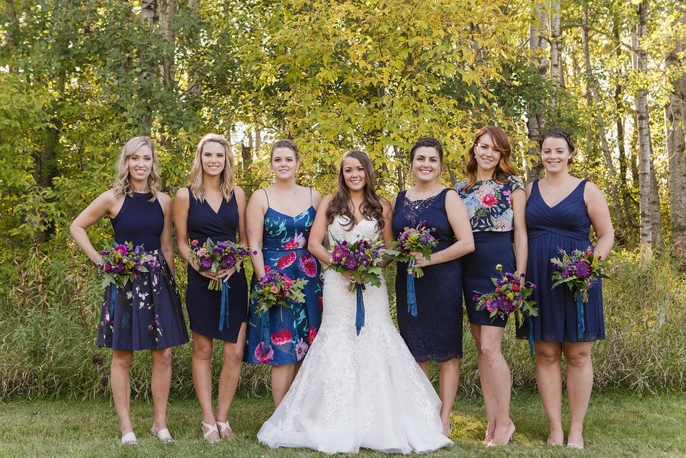 Navy and Purple Wedding - Wedding Florist in Winnipeg