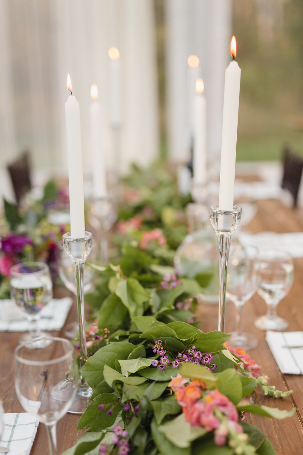Greenery and Floral Garland - Wedding Centrepiece