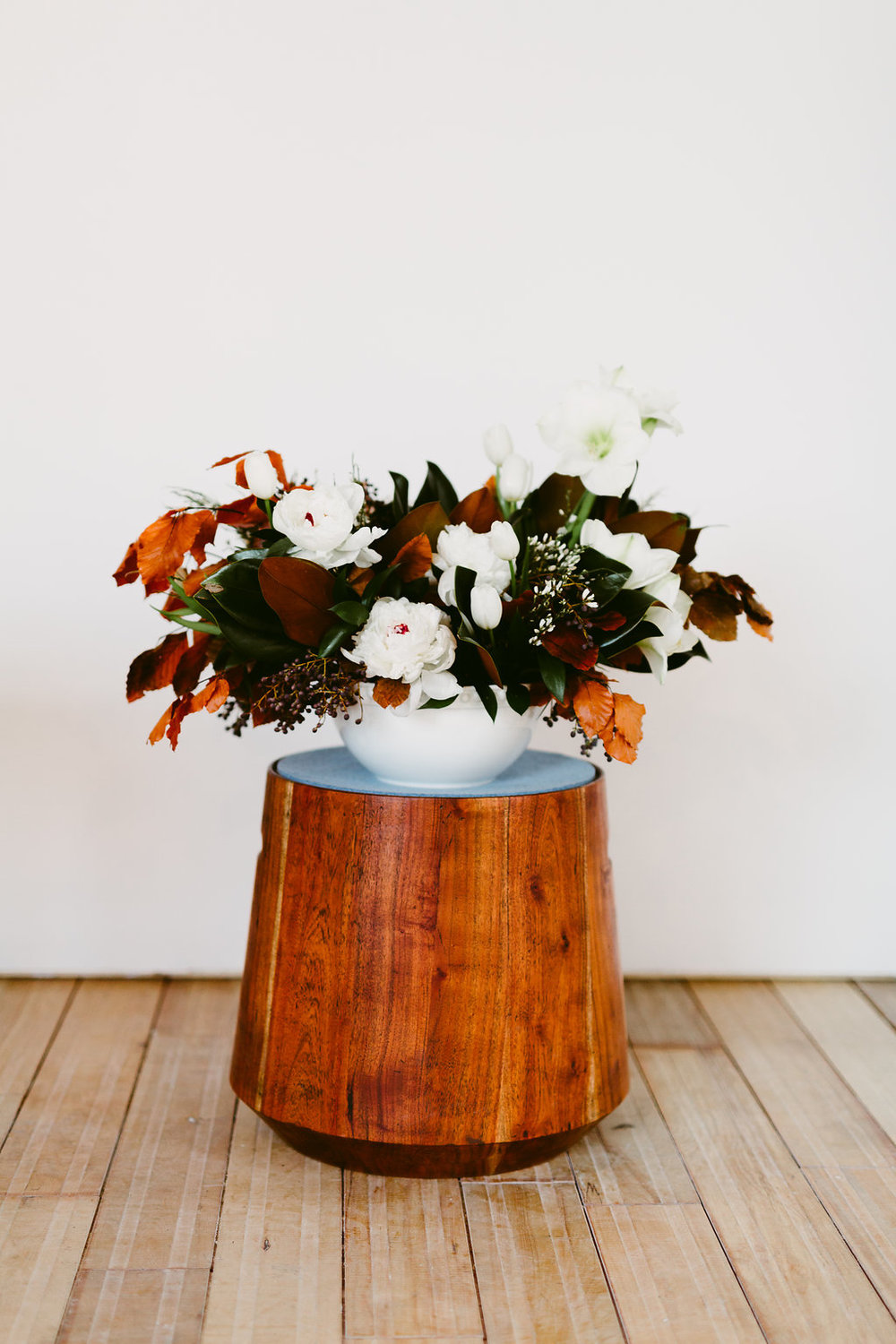White and Copper Winter Wedding Flower Inspiration - Wedding Florist Winnipeg