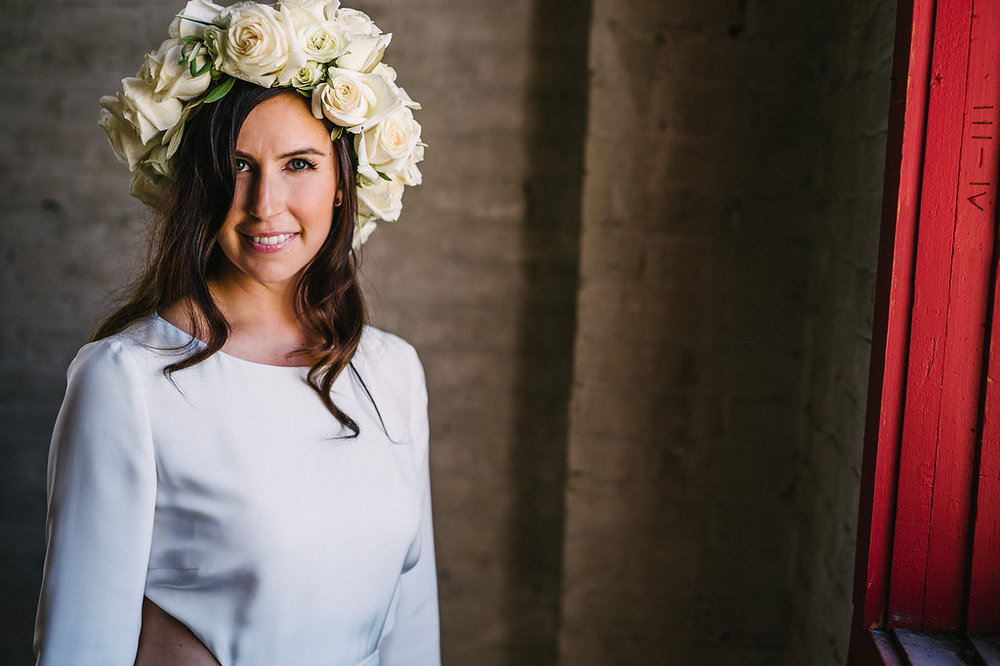 White Flower Crown - Modern Wedding Ideas winnipeg