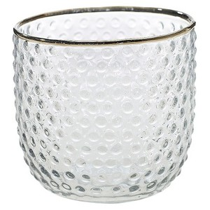 Gold-Rimmed Votive Holder - Winnipeg Wedding Rentals