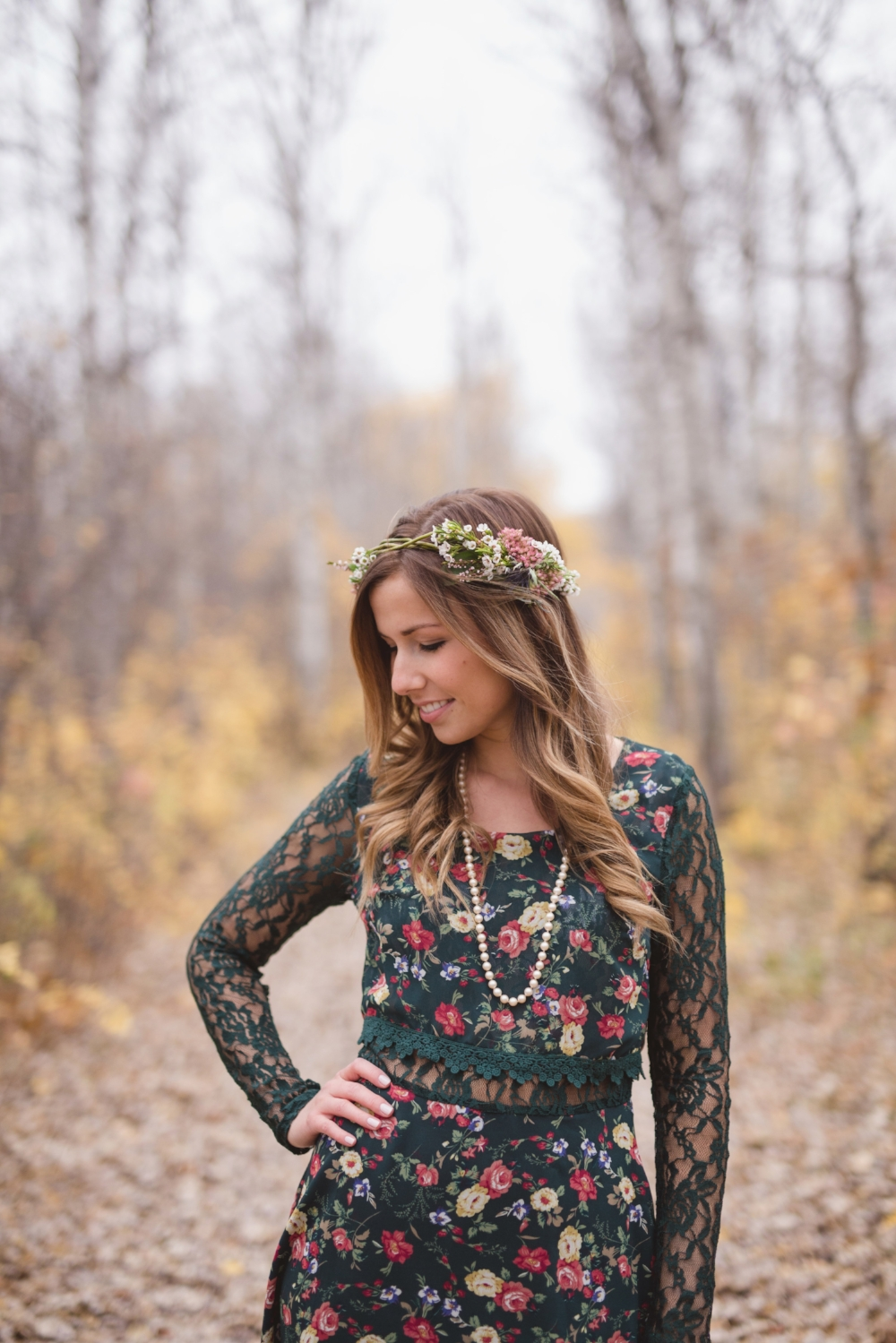 Rustic Flower Crown - Wedding Hair Flowers