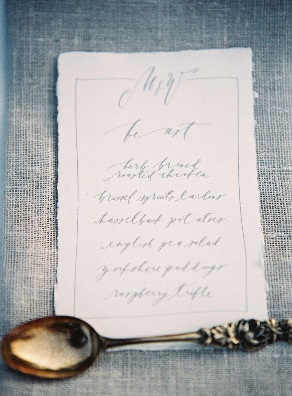 Calligraphy Wedding Ideas - Winnipeg Wedding Flowers