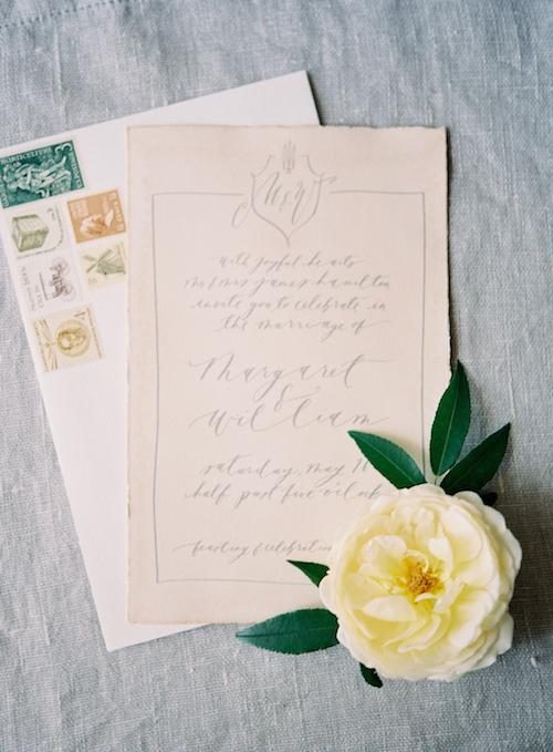Calligraphy Wedding Invitation - Elegant Wedding Inspiration