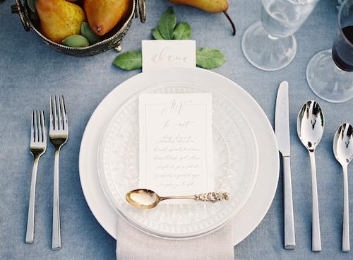 Elegant Blue Wedding Ideas - Stone House Creative