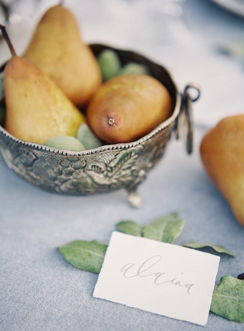 Calligraphy escort Card - Winnipeg Wedding Event Design