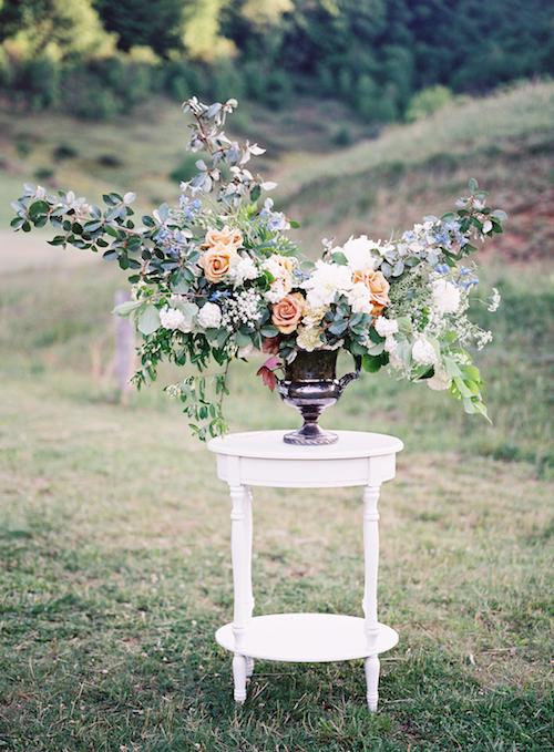 Organic Wedding Flowers - Outdoor Wedding Inspiration