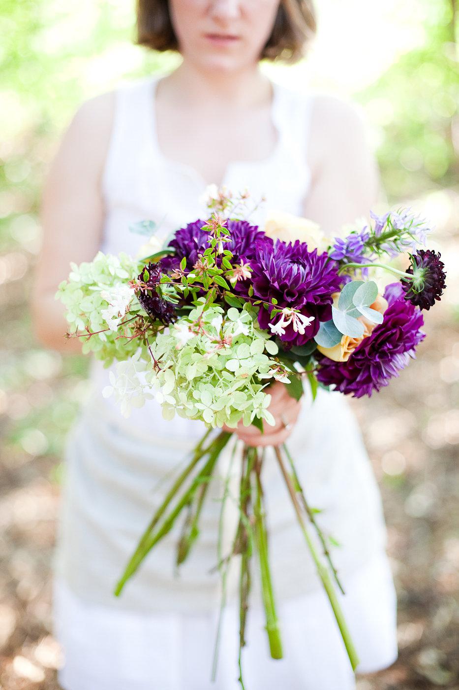 The Making of a Bridal Bouquet - Winnipeg Wedding Florist