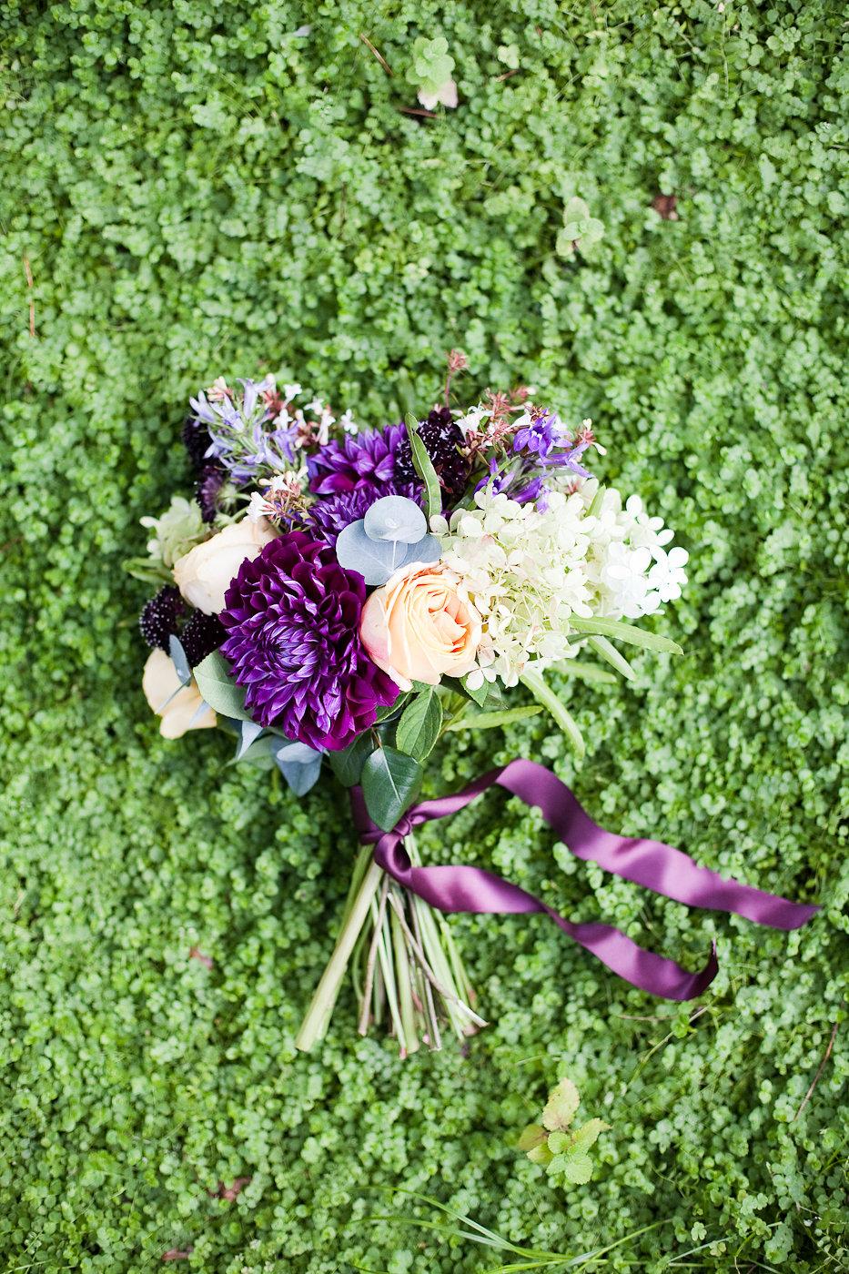 Plum and Caramel Wedding Flowers - Stone House Creative