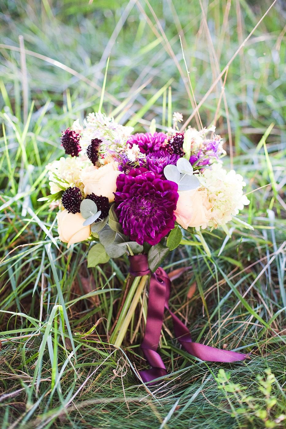 Purple Wedding Bouquet - Wedding Florists in Winnipeg